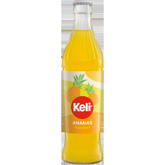Keli Ananas 0,33 l Mehrweg Glasflasche
