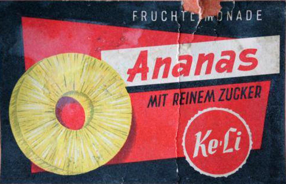 Original-Etikett aus der Anfangszeit von Keli.