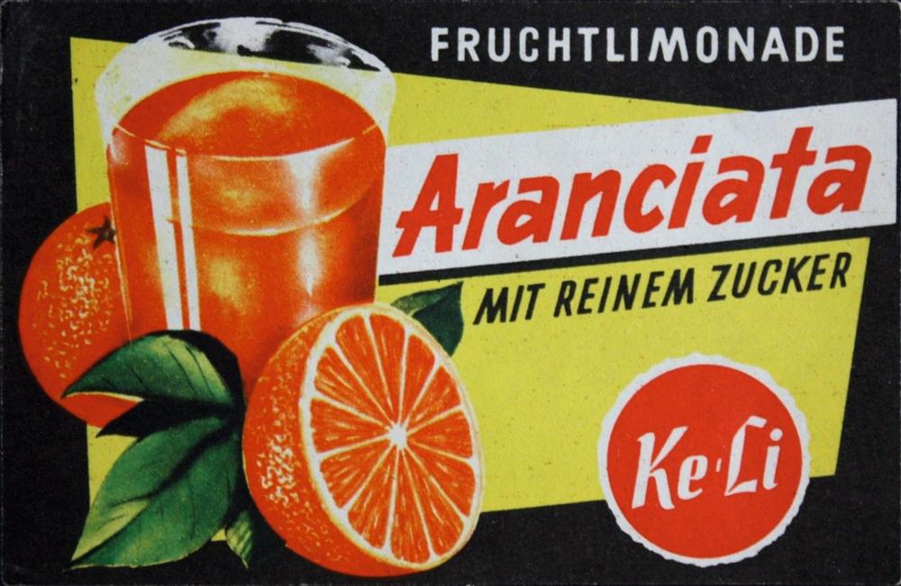 Ke-Li Etikett aus den 60er Jahren.